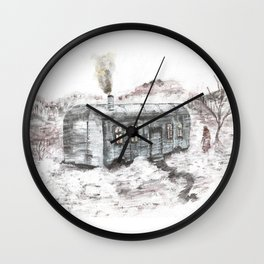 In the middle of beautiful nowhere Wall Clock