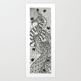 Tied in Tangles Art Print