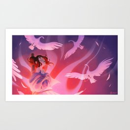 The Wild Swans - The Stake Art Print