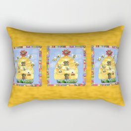 Busy Bees with Border Rectangular Pillow