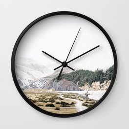 Collage Mountain11 Wall Clock