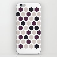honeycomb iPhone & iPod Skins featuring Honeycomb by LONEWLF