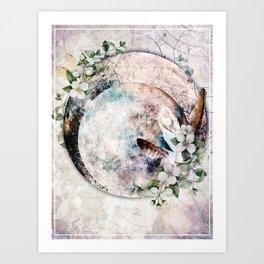 Strawberry Moon Art Print
