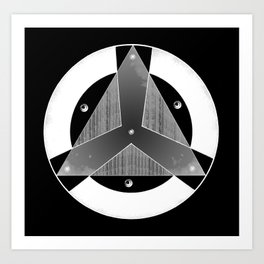 Logo Organización Negativo Art Print