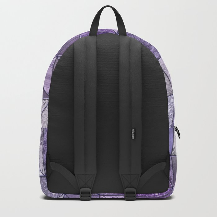 Purple Lilac Glamour Shiny Shimmering Patchwork Backpack