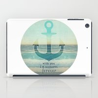 anchor iPad Cases featuring ANCHOR by Monika Strigel