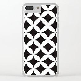 Shippo (cloisonne)Geometric Pattern Clear iPhone Case