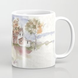 Summer at Eagle Harbor Lighthouse Coffee Mug