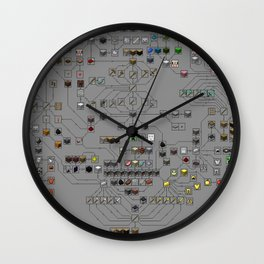 Mine craft all products Wall Clock