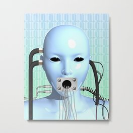 Web Head Modern Surreal Art Metal Print