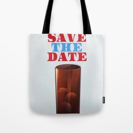 Save the date vintage soda ad. Tote Bag