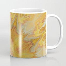 Fiery Sun - Offset Mandala Kaleidoscope Design Coffee Mug
