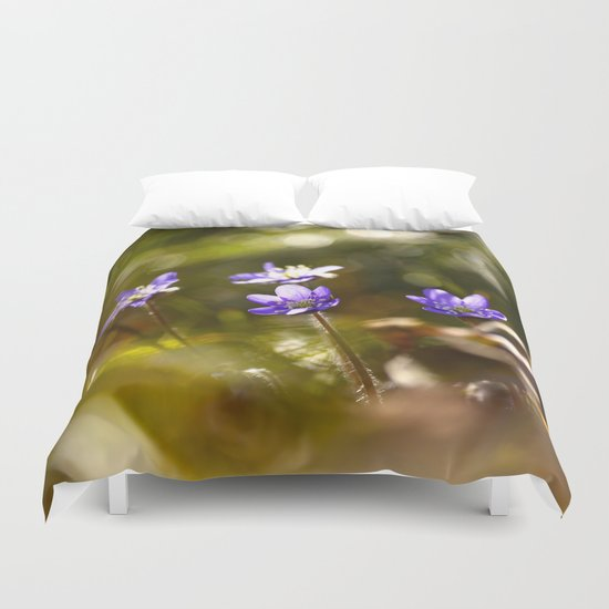 Beautiful Surprise In Spring Forest Duvet Cover