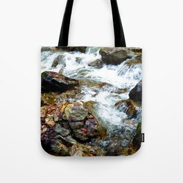 Mountain stream in Varghisului Gorges Tote Bag