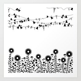 Flowers in summer Art Print