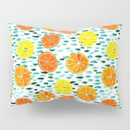 Citrus Lily (white) Pillow Sham