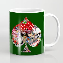 Spade Playing Card Shape - Las Vegas Icons Coffee Mug