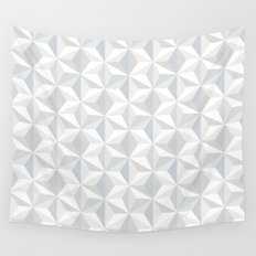 White geometry Wall Tapestry