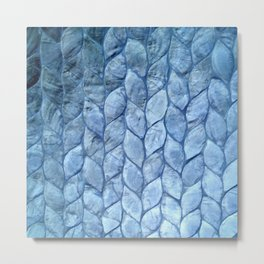 Ocean Blue Shell Metal Print