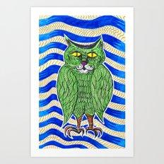 Catlearowl Art Print