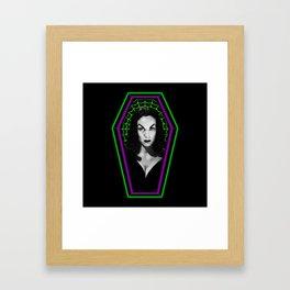 COFFIN MUGSHOT 2 (VAMPIRA) Framed Art Print