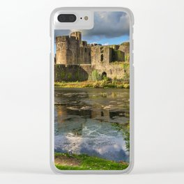Caerphilly Castle Moat Clear iPhone Case