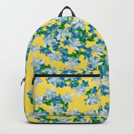 Summer Flowers Yellow Backpack