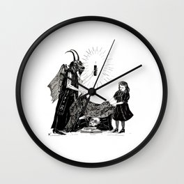 The Darkness And The Light Wall Clock