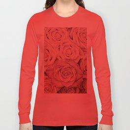 Some People Grumble - Pink Rose Pattern - Roses Long Sleeve T-shirt