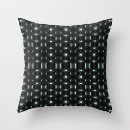 Futuristic Dark Hexagonal Grid Pattern Design Throw Pillow