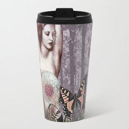 Woman in Purple Garden Travel Mug