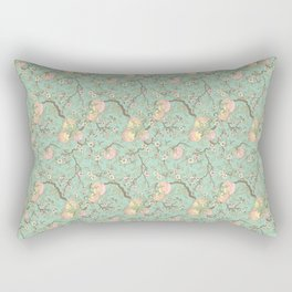 Peaches and Blossoms Rectangular Pillow