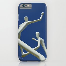 Jonathan Borofskys sculpture The Dancers outside the Center for the Performing Arts in Denver iPhone Case