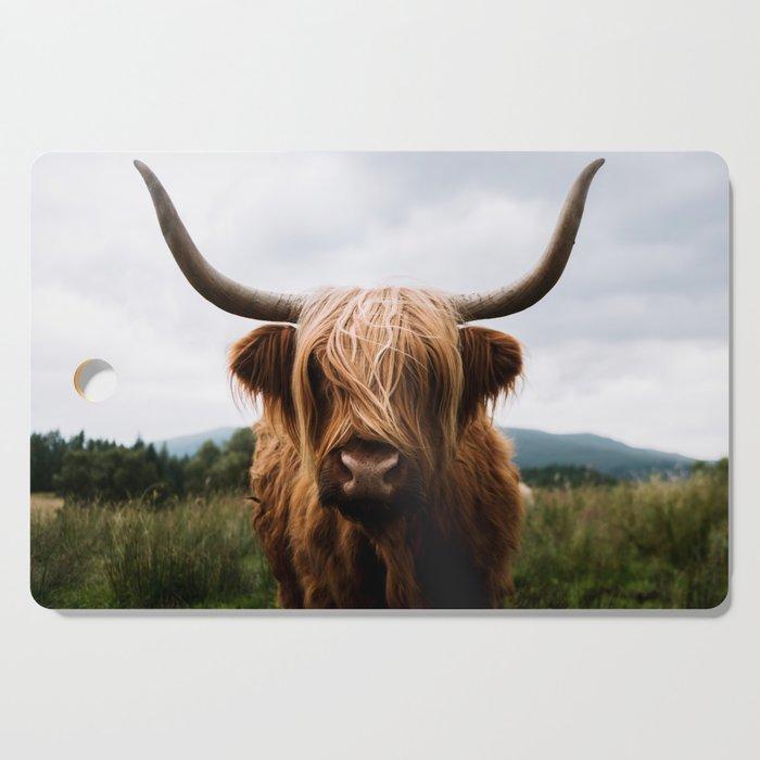 Scottish Highland Cattle in Scotland Portrait II Cutting Board