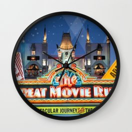 The Great Movie Ride Wall Clock