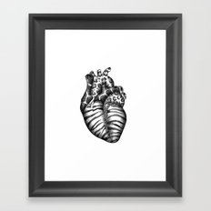 Heart gone wild Framed Art Print