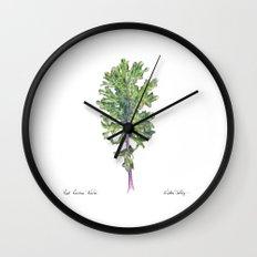 Red Russian Kale Wall Clock