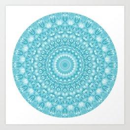 Caribbean Blue Mandala Art Print