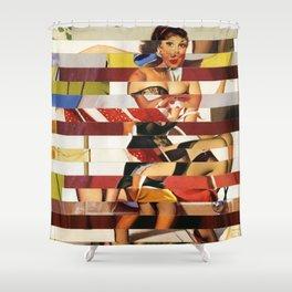 Glitch Pin-Up Redux: Emma Shower Curtain
