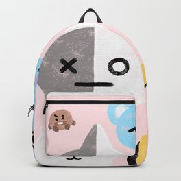 BTS21 Characters in Pastel Backpack