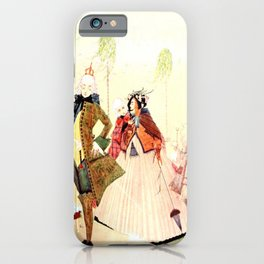 """""""Puss in Boots and the Marquis"""" by Harry Clarke 1922 iPhone Case"""