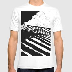 Steps and Shadows MEDIUM White Mens Fitted Tee