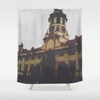 castle Shower Curtains featuring CASTLE  by REASONandRHYME