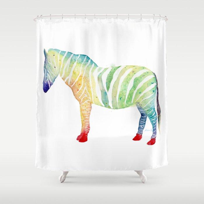 Zebra Colorful Shower Curtain