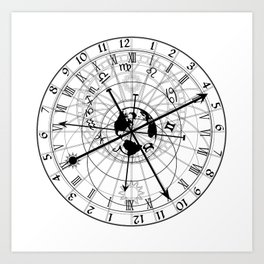 Astronomical Clock Art Print