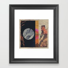 untitled with horse Framed Art Print
