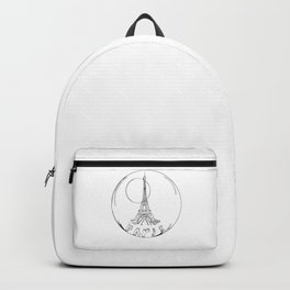 Paris in a glass ball without a shadow , home decor, graphic design Backpack