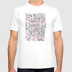 2002 - Thoughts In Rotterdam (High Res) White MEDIUM Mens Fitted Tee