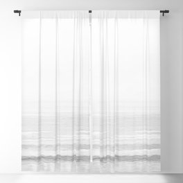 Washed Out Ocean Waves B&W // California Beach Surf Horizon Summer Sunrise Abstract Photograph Vibes Blackout Curtain