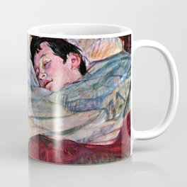 """Henri de Toulouse-Lautrec """"The Bed"""" Coffee Mug"""